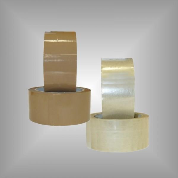 6 x Klebeband braun oder transparent 50 mm