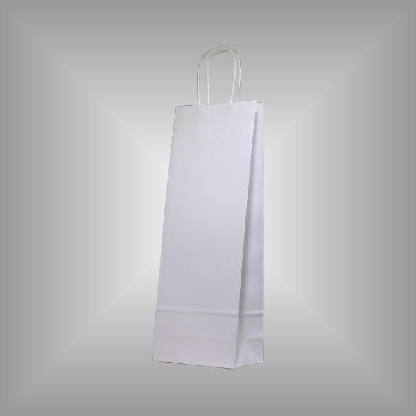 15 x 8 x 39,9 Papiertragetaschen weiß 50 Stück