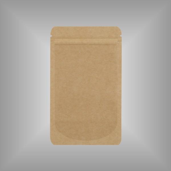 Standbodenbeutel Kraftpapier braun