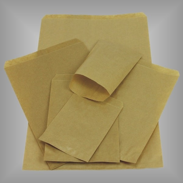 Papierflachbeutel braun