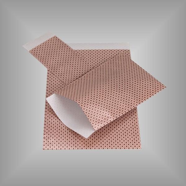 Papierflachbeutel Rosa Sterne